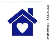 house with heart vector icon. | Shutterstock .eps vector #553160839