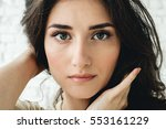 woman portrait natural... | Shutterstock . vector #553161229