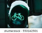 Traffic Light In Winter With...