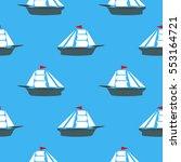 vector sea ships silhouettes... | Shutterstock .eps vector #553164721