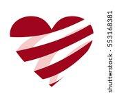 valentines day heart vector... | Shutterstock .eps vector #553168381