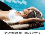 sleeping woman relaxing... | Shutterstock . vector #553169941