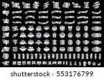 silver banner ribbon label... | Shutterstock .eps vector #553176799