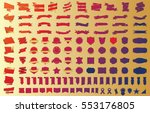 banner ribbon label red vector... | Shutterstock .eps vector #553176805