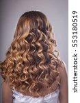 hair styling  bare back | Shutterstock . vector #553180519