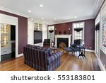 family room in upscale home... | Shutterstock . vector #553183801