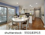 kitchen in suburban home with... | Shutterstock . vector #553183915