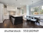 Kitchen In Upscale Home With...