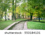 scenic view of park in sofia ... | Shutterstock . vector #553184131