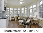 sun room in upscale home with... | Shutterstock . vector #553184677