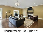 family room in upscale home... | Shutterstock . vector #553185721