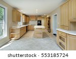kitchen in remodeled home with...   Shutterstock . vector #553185724