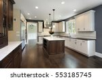 kitchen in remodeled home with...