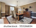 dining room in upscale home... | Shutterstock . vector #553186834