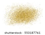 gold glitter texture isolated... | Shutterstock .eps vector #553187761
