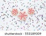 homemade  snowflake christmas... | Shutterstock . vector #553189309