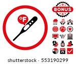 fahrenheit temperature icon... | Shutterstock . vector #553190299
