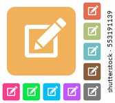editor with pencil flat icons... | Shutterstock .eps vector #553191139