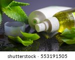 beauty products for spa with... | Shutterstock . vector #553191505