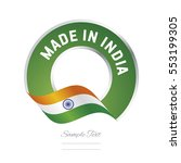 made in india flag green color... | Shutterstock .eps vector #553199305