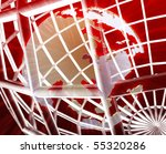 abstract globe grid wireframe... | Shutterstock . vector #55320286