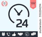 open around the clock icon.... | Shutterstock .eps vector #553204294