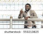 businessman in the train... | Shutterstock . vector #553213825