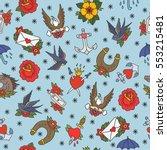seamless doodle pattern.... | Shutterstock .eps vector #553215481
