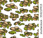 pistachios pattern including... | Shutterstock .eps vector #553219915