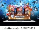 online money games. internet... | Shutterstock . vector #553220311