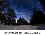 Night Winter Landscape Of...