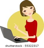 illustration of business woman... | Shutterstock .eps vector #55322317