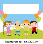 children and frame | Shutterstock .eps vector #55322329