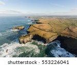 aerial loop head peninsula in... | Shutterstock . vector #553226041