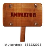 animator  3d rendering  text on ...