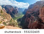 view of zion canyon in zion... | Shutterstock . vector #553232605
