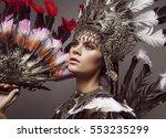 portrait of woman in creative...   Shutterstock . vector #553235299