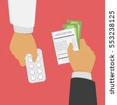 buying  sell medical pills... | Shutterstock .eps vector #553238125