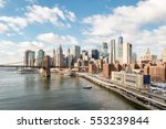 manhattan financial district... | Shutterstock . vector #553239844