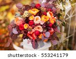 Autumn Bouquet Of Red And Peac...