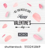 happy valentines day card with... | Shutterstock .eps vector #553241869
