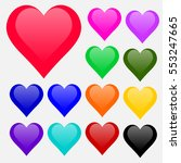 valentine heart symbol. wedding ... | Shutterstock .eps vector #553247665