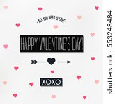 happy valentines day card ... | Shutterstock .eps vector #553248484