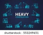 heavy construction machine... | Shutterstock .eps vector #553249651