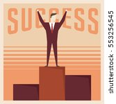 success poster motivation in... | Shutterstock .eps vector #553256545