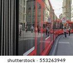 Beautiful Modern Red Tram...