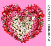 valentines day  heart made of... | Shutterstock . vector #553267504