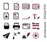 Paper Text Icon Set