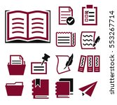 paper  document icon set | Shutterstock .eps vector #553267714