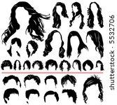 women and men hair vector ...   Shutterstock .eps vector #5532706